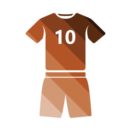 single man: Soccer uniform icon. Flat color design. Vector illustration.
