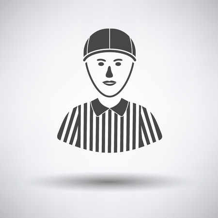 linesman: American football referee icon. Vector illustration.