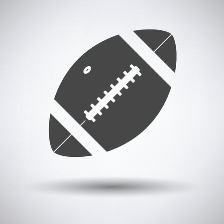 pigskin: American football ball icon. Vector illustration.
