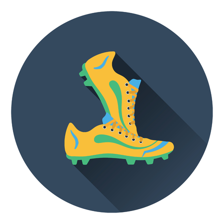 football boots: Icon of football boots. Flat color design. Vector illustration. Illustration