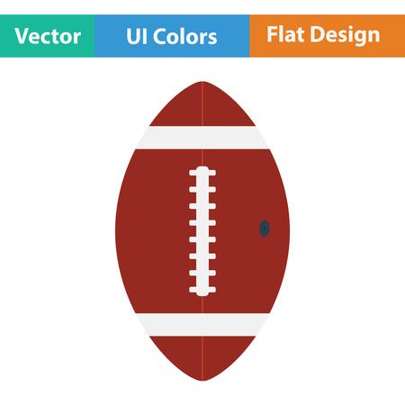 football: American football ball icon. Flat color design. Vector illustration.