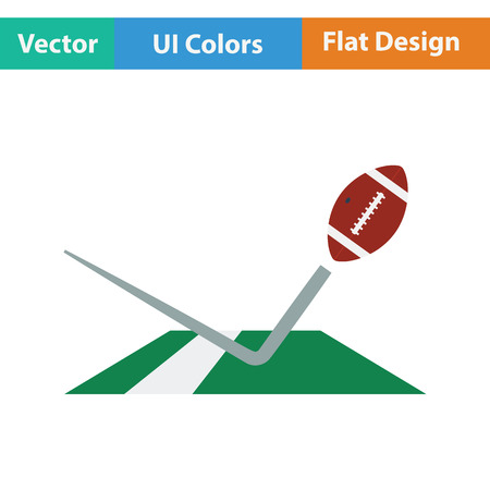 touchdown: American football touchdown icon. Flat color design. Vector illustration.