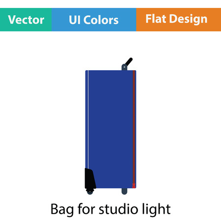 snoot: Icon of studio photo light bag. Flat color design. Vector illustration.