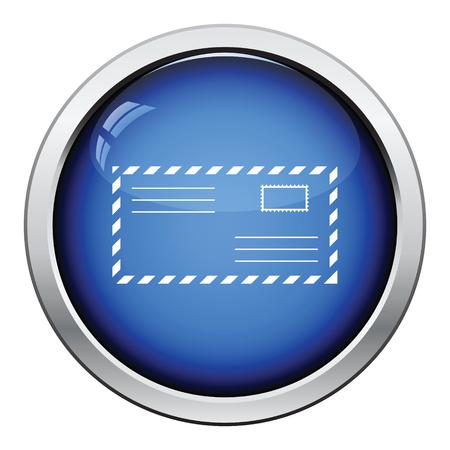 postscript: Letter icon. Glossy button design. Vector illustration. Illustration