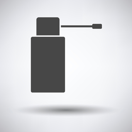 necessity: Inhalator icon on gray background, round shadow. Vector illustration. Illustration