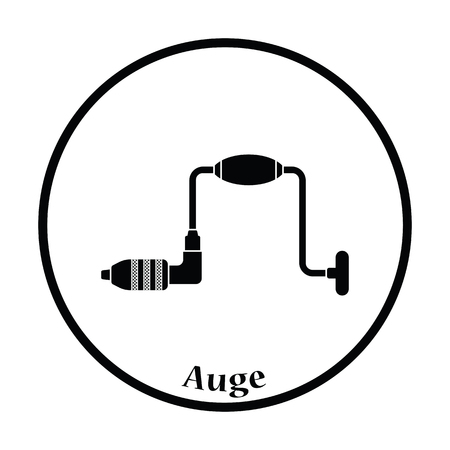 auger: Icon of auge. Thin circle design. Vector illustration.