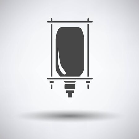 transfuse: Drop counter icon on gray background, round shadow. Vector illustration. Illustration