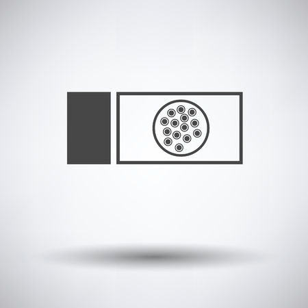 bacteriology: Bacterium glass icon on gray background, round shadow. Vector illustration.