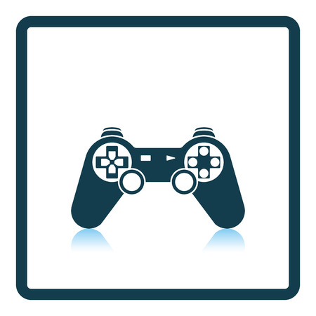 in reflection: Gamepad  icon. Shadow reflection design. Vector illustration.