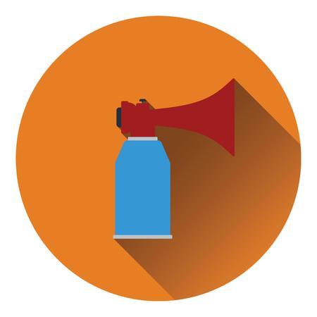 aerosol: Football fans air horn aerosol icon. Flat color design. Vector illustration.