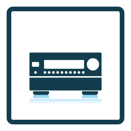 receiver: Home theater receiver icon. Shadow reflection design. Vector illustration. Illustration