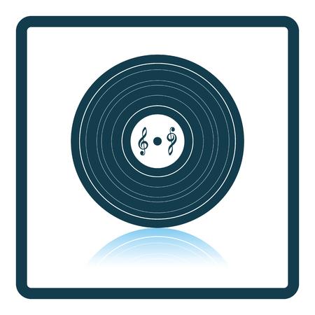 analogue: Analogue record icon. Shadow reflection design. Vector illustration. Illustration