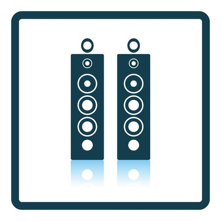 party system: Audio system speakers icon. Shadow reflection design. Vector illustration. Illustration