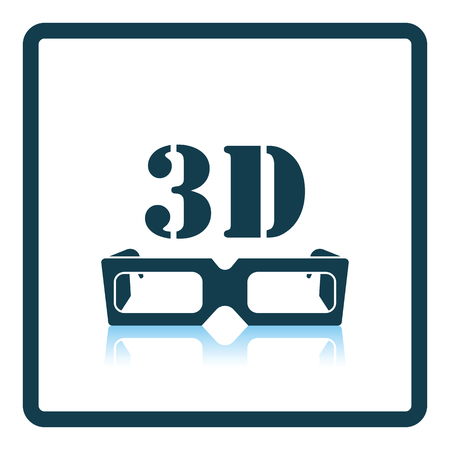 goggle: 3d goggle icon. Shadow reflection design. Vector illustration.