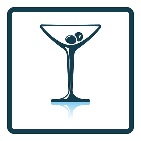 glass reflection: Cocktail glass icon. Shadow reflection design. Vector illustration. Illustration