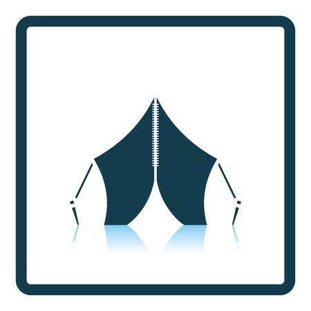 touristic: Touristic tent icon. Shadow reflection design. Vector illustration.