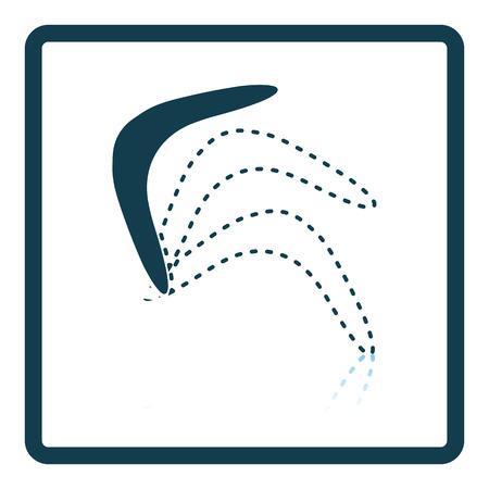 wooden boomerang: Boomerang  icon. Shadow reflection design. Vector illustration. Illustration