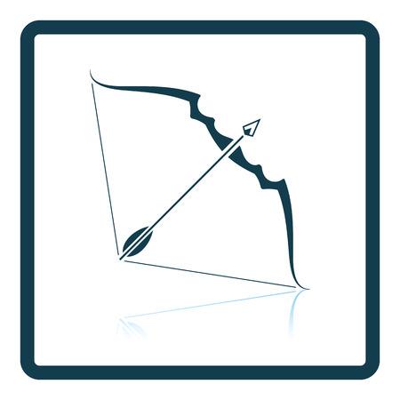longbow: Bow and arrow icon. Shadow reflection design. Vector illustration. Illustration