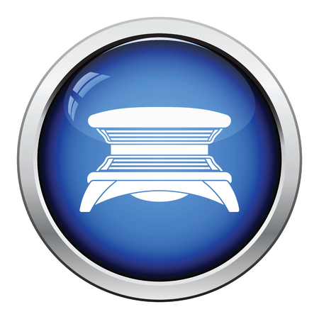 solarium: Solarium icon. Glossy button design. Vector illustration.