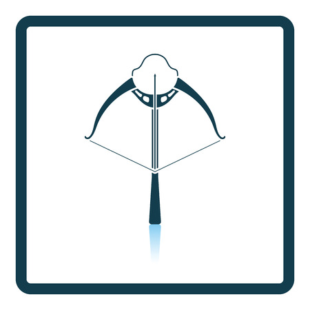 crossbow: Crossbow icon. Shadow reflection design. Vector illustration.
