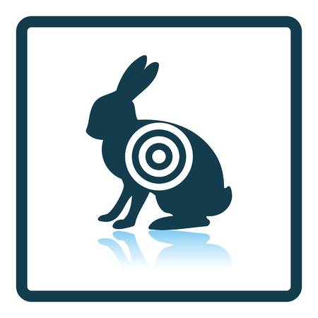shadow silhouette: Hare silhouette with target  icon. Shadow reflection design. Vector illustration. Illustration