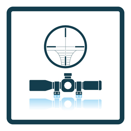 in reflection: Scope icon. Shadow reflection design. Vector illustration.