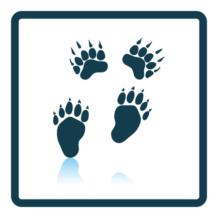 track pad: Bear trails  icon. Shadow reflection design. Vector illustration. Illustration