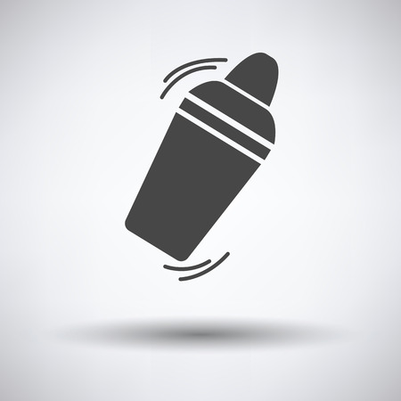Bar shaker icon on gray background, round shadow. Vector illustration.