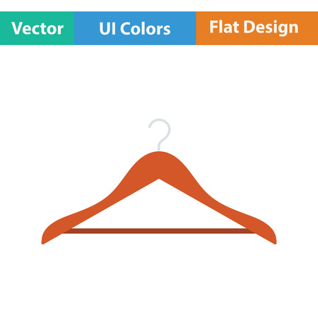 shirt hanger: Cloth hanger icon. Flat design. Vector illustration.