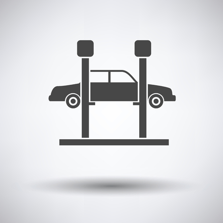 car lift: Car lift icon on gray background, round shadow. Vector illustration. Illustration