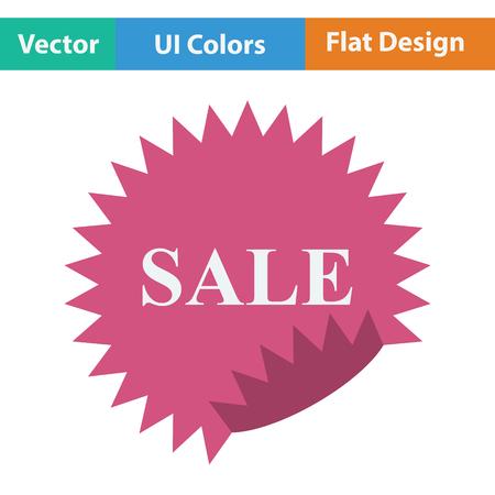 sale tag: Sale tag icon. Flat design. Vector illustration.