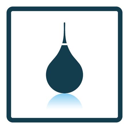 aspirator: Enema icon. Shadow reflection design. Vector illustration. Illustration