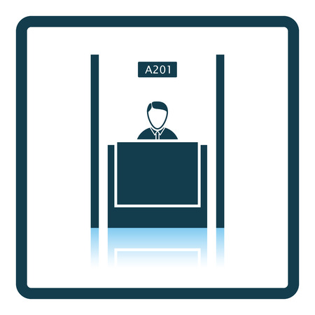 a bank employee: Bank clerk icon. Shadow reflection design. Vector illustration.