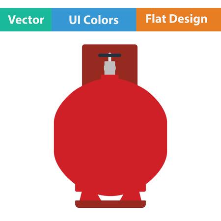 gas cylinder: Gas cylinder icon. Flat design. Vector illustration.