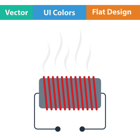 heater: Electrical heater icon. Flat design. Vector illustration. Illustration