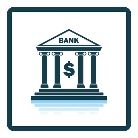 in reflection: Bank icon. Shadow reflection design. Vector illustration.