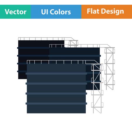 tanks: Oil tank storage icon. Flat design. Vector illustration.