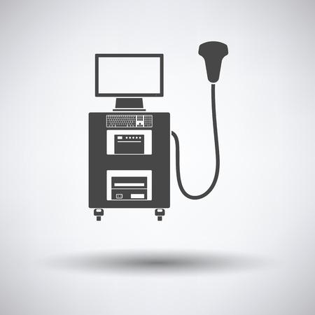 Ultrasonido Icono De La Máquina De Diagnóstico. Diseño Del Marco ...