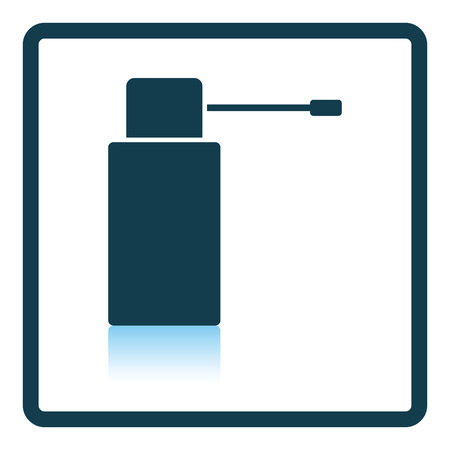 in reflection: Inhalator icon. Shadow reflection design. Vector illustration.