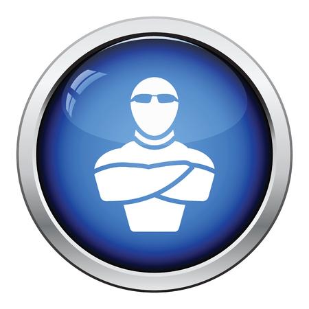 night club: Night club security icon. Glossy button design. Vector illustration.