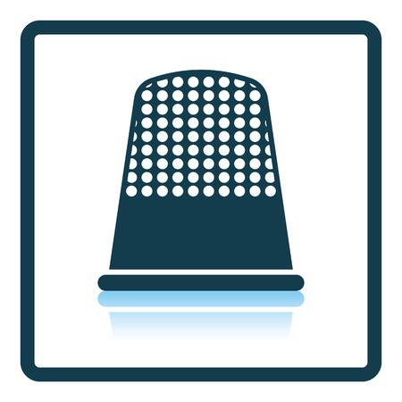 hem: Tailor thimble icon. Shadow reflection design. Vector illustration. Illustration