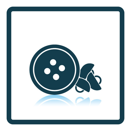 sewing buttons: Sewing buttons icon. Shadow reflection design. Vector illustration.