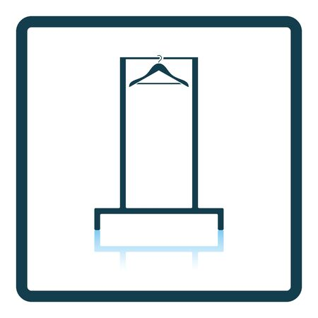 shoulder buttons: Hanger rail icon. Shadow reflection design. Vector illustration.