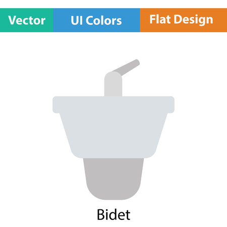 bidet: Bidet icon. Flat color design. Vector illustration. Illustration
