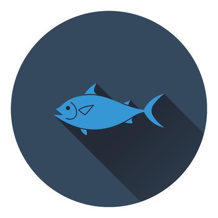 gill: Fish icon. Flat color design. Vector illustration.