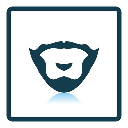 burly: Goatee icon. Shadow reflection design. Vector illustration.