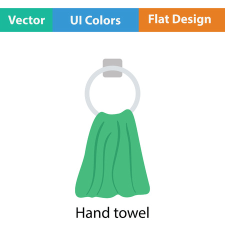 hand towel: Hand towel icon. Flat color design. Vector illustration. Illustration
