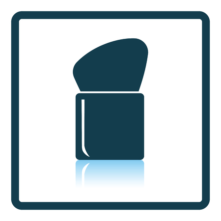 personal accessories: Make Up brush icon. Shadow reflection design. Vector illustration.