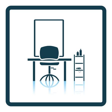 groomed: Barbershop icon. Shadow reflection design. Vector illustration. Illustration