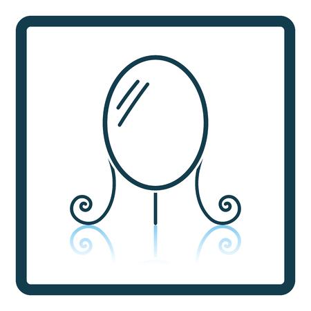reflection mirror: Make Up mirror icon. Shadow reflection design. Vector illustration. Illustration